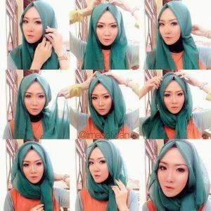 tutorial hijab toga wisuda